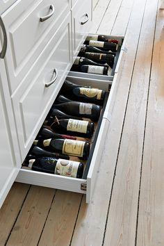 drawer to store wine