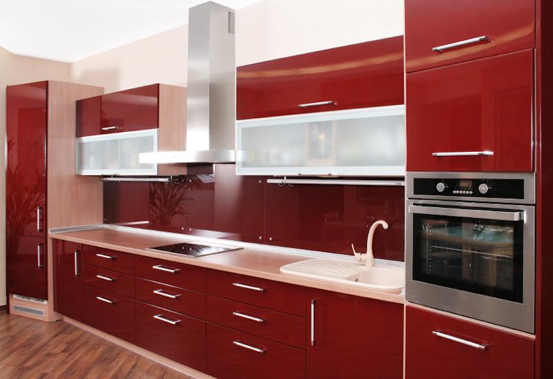 Red kitchen - New kitchen cost