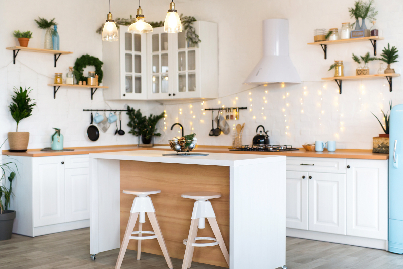 Simple white and wood kitchen - New kitchen cost